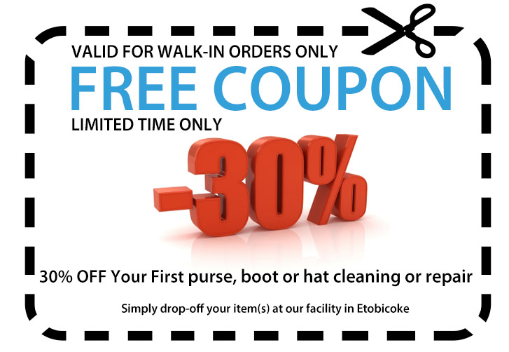 purse cleaning coupon