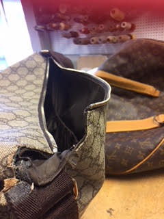 Gucci purse repair Toronto - Before