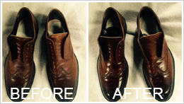 Mens Shoe Cleaning