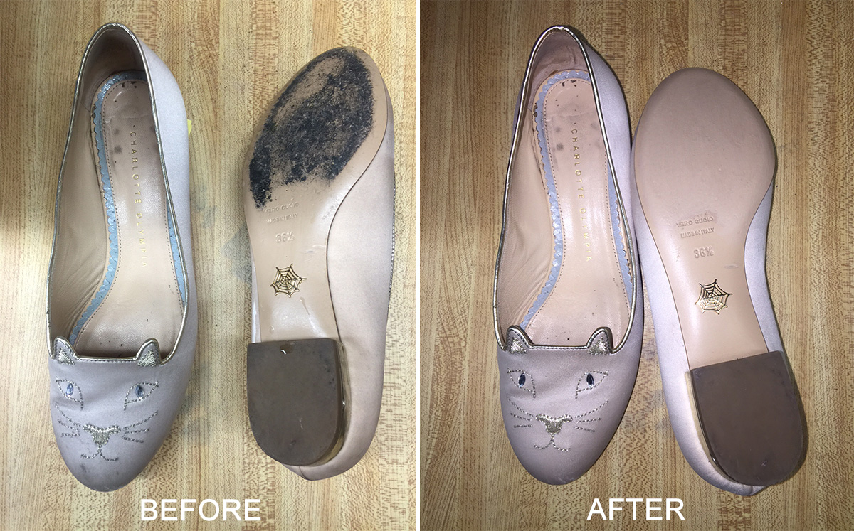 Brown Leather Shoe Restoration
